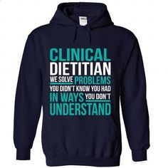 CLINICAL-DIETITIAN - Solve problem - #tee verpackung #hoodie for teens. MORE INFO => https://www.sunfrog.com/No-Category/CLINICAL-DIETITIAN--Solve-problem-2457-NavyBlue-Hoodie.html?68278