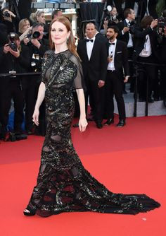Julianne Moore in Givenchy Haute Couture at the opening ceremony premiere of Café Society.