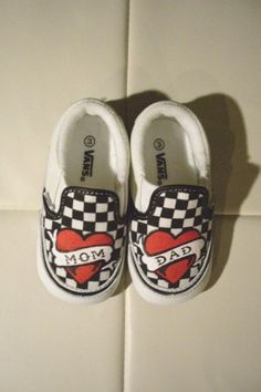 Custom Vans for the little ones. My future kids WILL have these! haha