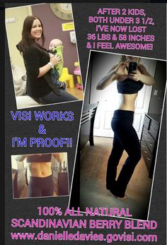Mother of 2, down 36lbs and 58 inches!  To Learn more go to http://www.teamvisi.com/visibyginger3