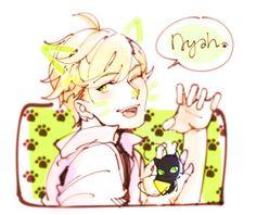 Nyah~ (Miraculous LadyBug, Adrien, Plagg)