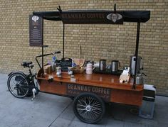 coffee cafe coffeecup morning yummy delicious dinner tasty lunch eat Thanks to Mobile Coffee Cart, Mobile Coffee Shop, Mobile Food Cart, Food Cart Business, Coffee Business, Food Cart Design, Food Truck Design, Bicycle Cafe, Velo Cargo