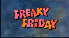 The opening to the 1976 Walt Disney film Freaky Friday. For the official Disney web site about the film, or to purchase the DVD, go to ht. Friday Pictures, Friday Pics, Happy Movie, Disney Presents, Movie Of The Week, Opening Credits, Disney Films, Walt Disney, Good Friday