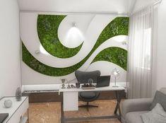 Starting a Vertical Garden – Style Gardening Office Interior Design, Office Interiors, Home Room Design, House Design, Moss Wall Art, Moss Art, Bedroom Wall, Wall Design, Wall Decor
