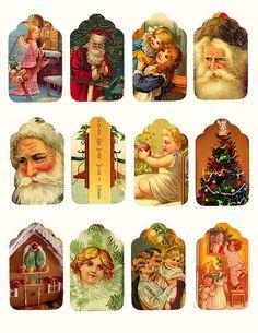 free vintage Christmas tags