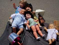 Puppen auf dem Flohmarkt, Empuria Brava - Foto: S. Hopp