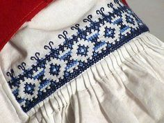 Embroidery on a blouse from Moravian Wallachia - one of my favourite folk costumes