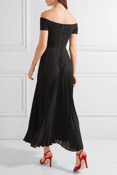 Alice Olivia - Ilana Off-the-shoulder Stretch-jersey And Chiffon Dress - Black - US10