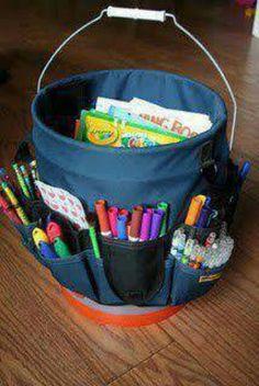 Organizing idea for kid craft supplies