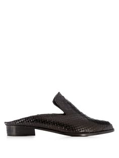 Alice snake-effect leather slip-on loafers | Robert Clergerie | MATCHESFASHION.COM UK