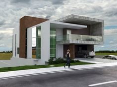 Residencial Aphaville - CGI on Behance Contemporary Stairs, Contemporary Building, Contemporary Apartment, Contemporary Home Decor, Contemporary Architecture, Architecture Design, Contemporary Landscape, Contemporary Design, Contemporary Wallpaper