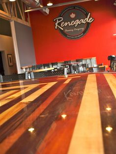 925 W. 9th Ave, Denver, CO.  Renegade brewery serves up amazing beer on our custom bar top.