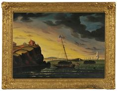 Thomas Chambers (New York/England, 1808-1869) American Shore Scene, Possibly a Nahant, Massachusetts, View, Unsigned. | Lot 59 | Auction 2961B | Sold for $17,220