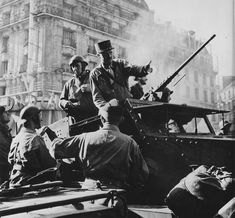 Major General Jacques Philippe Leclerc, commander of the French 2nd Armored Division, on the Boulevard du Montparnasse in Paris on the day of liberation, August 25, 1944.