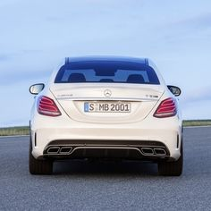 The all-new Mercedes-AMG C63 offers an optional performance exhaust system that makes the engine note from the 4.0-liter biturbo V-8 sound even more dominant.  #Mercedes #Benz #C63 #AMG #Sedan # instacar #carsofinstagram #germancars #luxury #2015CClass