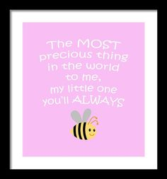 Little One Pink Framed Print By Inspired Arts