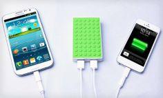 MOTA 4,000mAh Power Block (Similar to Lego Texture ) - Blue: Cell Phones & Accessories