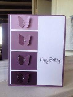 Paint Chip Cards, Paint Sample Cards, Paint Samples, Handmade Birthday Cards, Happy Birthday Cards, Karten Diy, Cricut Cards, Butterfly Cards, Butterfly Birthday Cards