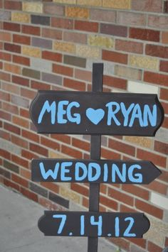Our wedding sign