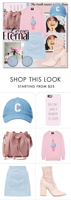 """Kyutie - Pastel Dream!"" by isabeldizova ❤ liked on Polyvore featuring Casetify, Markus Lupfer, New Look, Valentino, Linda Farrow, Pink, Blue, pastel and Kyutie"