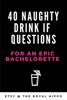 Heading to Sin City and Need the perfect game? Grab this x-rated bachelorette party game - 40 dirty drink if questions for an epic night and Vegas weekend.