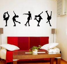 Figure Skating Vinyl Wall Art Decal.