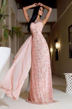 Rare Rose Elegant Evening Dress by Vero Milano