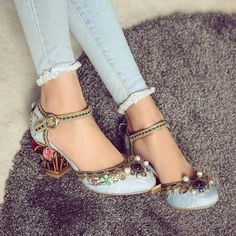 Krazing Pot 2017 New fashion brand shoes luxury big size flower pearl high heel women pumps party wedding crystal causal shoes -in Women's Pumps from Shoes on Aliexpress.com | Alibaba Group