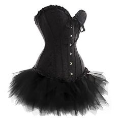 Wedding Lace up Boned Trim Corset with TUTU -- See this great image  : Plus size lingerie