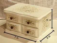 upcycled cream and white jewerly box antique