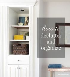 Easy organizing tips for small spaces. Love it!