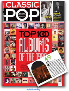 ABBA Fans Blog: Classic Pop Magazine - Top 100 80's Albums - visit my blog to read more #Abba #Agnetha #Frida http://abbafansblog.blogspot.co.uk/2015/11/classic-pop-magazine-top-100-80s-albums.html