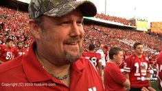 In case you didn't know, Larry the Cable Guy doesn't work on Husker home game days.