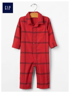 d8378c32e24 Flannel plaid one -piece Cute Baby Boy Outfits