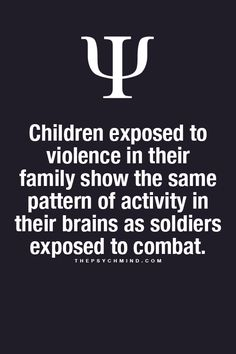 .Children exposed to violence in their family show the same pattern of activity #partnergeweld #partnerabuse #partnerviolence