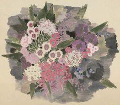 ¤ Projet de tissu à décor de fleurs, Suzanne Lalique-Haviland, aquarelle, 1920