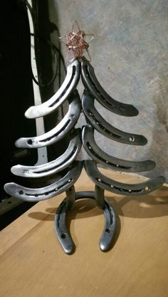 *great gifts* Christmas Tree/holiday tree, table mount or wall hanging with hooks for your coats or keys, recycled horseshoe art and decor. Clear coated for a rustic finish, also available in colors. Beautiful wire star made from actual welding wire. Seasonal decor, custom names, wall hangings, etc. *customization welcome for all designs*