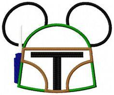 Mouse Head Boba Applique Embroidery Design