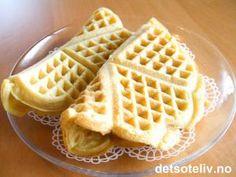 Vafler uten melk | Det søte liv Waffles, Milk, Baking, Breakfast, Dessert, Recipes, Food, Morning Coffee, Bakken