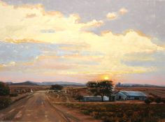 Karoo Sunset- feels like home! Landscape Art, Landscape Paintings, Velvet Sky, Smell Of Rain, Watercolor Architecture, South African Artists, Country Art, Sunrises, Serendipity