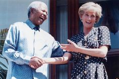 Princess Diana shares a companionable laugh with Nelson Mandela.  Image from http://www.thetimes.co.uk/tto/multimedia/archive/00213/mandela-diana-46430_213206b.jpg.