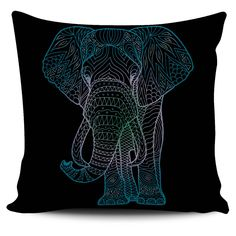 $5 FLASH SALE - Zen Elephant - Colorful zentangle inspired pillow covers!