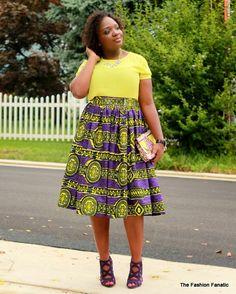 The Fashion Fanatic: My DIY: Purple & Yellow Ankara...