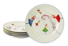 Yedi S/6 Dancing Fairies Dessert Plates