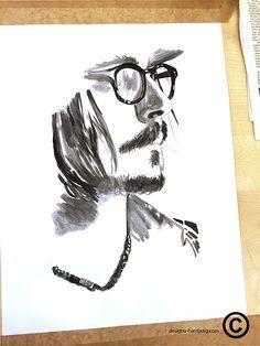 #Johnny Depp#black and white