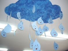 Can do gray clouds for rain clouds in one part of the room then white clouds in another area