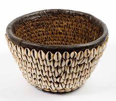 Hausa Cowrie shell basket (Nigeria)