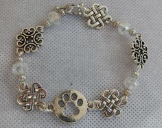 Silver Dog Paw Link Bracelet Jewelry Handmade NEW Accessories Fashion Dog Lover #Handmade #Chain