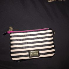 Betsy Johnson striped wristlet In new condition very cute!  Betsey Johnson Bags