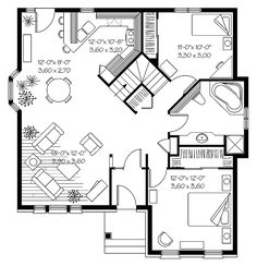 Develop The Right Floor Plan For Small House Home Decoration Ideas - Guest house plans under 500 sq ft Unique Small House Plans, Tiny House Plans, Small House Plans Under 1000 Sq Ft, Small Floor Plans, Plans Architecture, Minimal Architecture, Little Houses, Tiny Houses, Cottage Plan